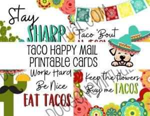 Taco Themed Printable Happy Mail