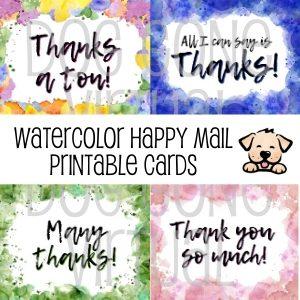 Watercolor Printable Happy Mail