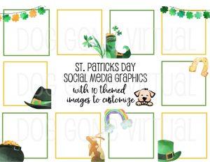 St. Patrick's Day Social Media Graphics Thumb