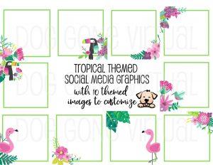 Tropical Themed Social Media Posts thumb