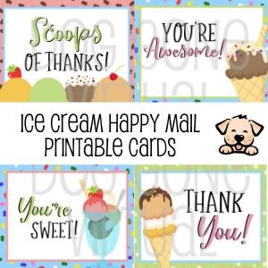 Ice Cream Happy Mail Cards