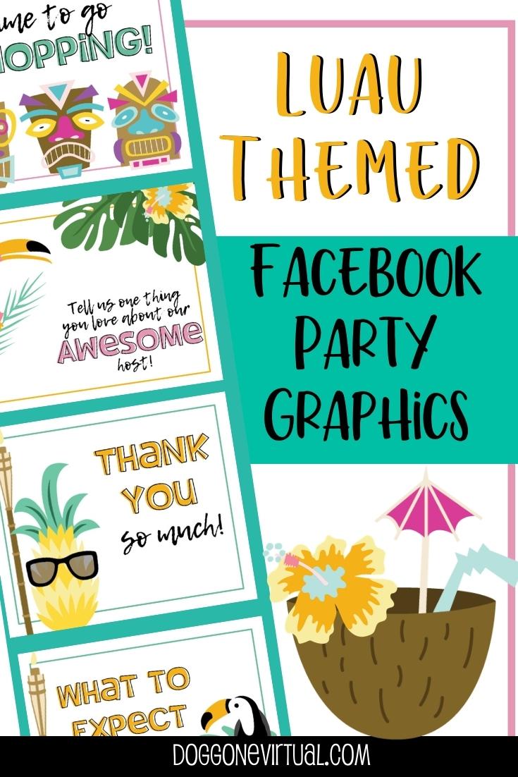Luau Themed Virtual Party Posts Pin