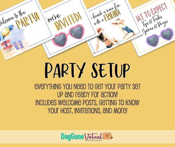 Beach Facebook Party Graphics Party Setup Thumbnail
