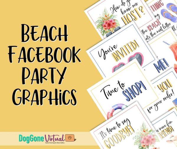 Beach Facebook Party Graphics Thumbnail 1